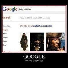 It's CAPTAIN Jack Sparrow