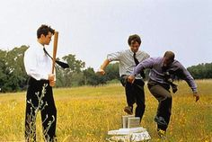 """(best scene in the movie! It is so frustrating when I am constantly referring to this scene to my co-workers have never seen this movie. In that line of thinking, I firmly support a """"Must See Cult Film"""" college class. Love Movie, I Movie, Movie Scene, What Do You Mean, Just For You, Office Space Movie, Office Spaces, Movie Quotes, Funny Quotes"""