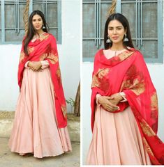 Punjabi Actress Sonam Bajwa   In Bhumika Sharma outfit
