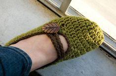 Mary Jane Crochet Slippers Free Pattern