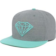 Diamond Brilliant Snapback Cap ($43) ❤ liked on Polyvore featuring accessories, hats, snap back cap, diamond cap, cap snapback, caps hats and diamond snapback