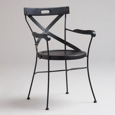 One of my favorite discoveries at WorldMarket.com: Black Campaign Chair