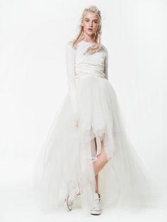 Houghton Mack Top & Sailor Skirt | Super Stylish Two-Piece Wedding Dresses