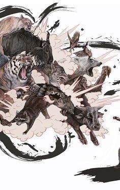A. J. Frena. Explode II. Illustration, Painting, Street Art.