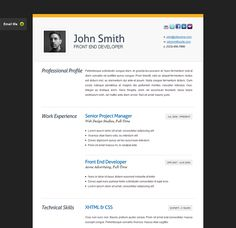 Me Template  Free Personal Vcard  Resume Html Templates
