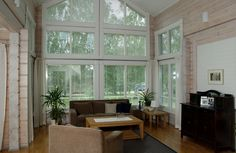 Honka Serenata is a popular design with high ceilings and wonderfully light-filled living room.