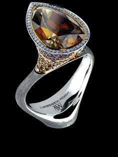 Jewellery Theatre  ART STONES RING Ref: AS1 008 WBF134 18K White Gold  diamonds sapphires rubies