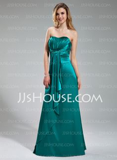 Bridesmaid Dresses - $129.99 - Empire Sweetheart Floor-Length Charmeuse Bridesmaid Dress With Ruffle (007019615) http://jjshouse.com/Empire-Sweetheart-Floor-Length-Charmeuse-Bridesmaid-Dress-With-Ruffle-007019615-g19615