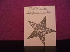 Schlichte gestempelte Weihnachtskarte in Schwarz Weiß.ca.11X14cm. Bei www.Greetings2go.de