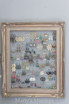 Shabby Chic Style Repurposed Jewelry Organizer ForRent.com