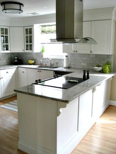 Check website...Lots of great tips on installing an Ikea kitchen! And like the trim on the island.