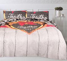 Dekbedovertrek Together Forever Grey Romantisch dekbedovertrek met diverse stoere elementen die samen een mooi geheel vormen. Daarnaast is katoen ademend, luchtdoorlatend en vocht absorberend. De dekbedset wordt standaard geleverd met bijpassende kussensloop/kussenslopen. Comforters, Blanket, Bed, Creature Comforts, Quilts, Stream Bed, Blankets, Beds, Cover