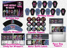 Monster High Party Printable Package. $16.00, via Etsy.