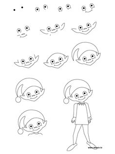 how to draw simple | learn how to draw an elf with simple step by step instructions