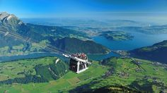 Open-air cable car in Switzerland