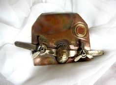 Night Flight available on Etsy at HandForgedWithLove   Copper and Brass Hand Forged Pendant  made by Patti Love