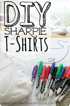 DIY Stained Sharpie T-Shirts | How to Make Easy Sharpie Stained Shirts