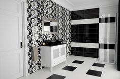 Ikebana Black Bathroom