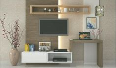 Simple Style TV Unit & Laptop Table unit With Study Table unit styling units in living room simple Bedroom Tv Unit Design, Tv Unit Bedroom, Living Room Tv Unit, Long Tv Unit, Small Tv Unit, The Unit, Floating Entertainment Center, Laptop Table, Woodworking Projects Diy