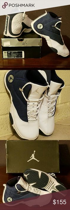 Air Jordan 12.5 Team Sneakers Great pair of athletic unisex shoes in White/ Metallic Silver/ Mid Navy color. Worn a handful of times, still in excellent condition, with original box included. No flaws! Size is 6.5 Youth. True to size. No trades or PayPal. Jordan Shoes Athletic Shoes