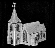 This beautiful and rare paper model of a Medieval Church was preserved and is shared by Plush Possum Studio website. A great model for Dioramas, RPG, Wargames and to make Glitter Houses for Christmas decoration.