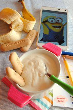 crema alla banana con ricotta e yogurt Ricotta, Baby Weaning Foods, Yogurt, Italian Cake, Baby Health, Cata, Food Humor, Something Sweet, Baby Food Recipes