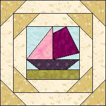 Block of the Day for July 3, 2014 - Framed Boat