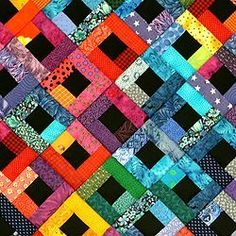 I really love the bright colors and the contrast of this quilt!