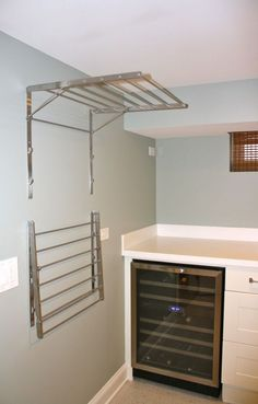 small laundry with wine fridge - Google Search