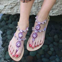 Mystique Jeweled Sandals & Flats for Women Sparkly Sandals, Pretty Sandals, Next Shoes, Women's Shoes, Mystique Sandals, Flat Sandals, Flats, Shoe Palace, Africa Dress