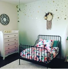 Boho inspired toddler room.