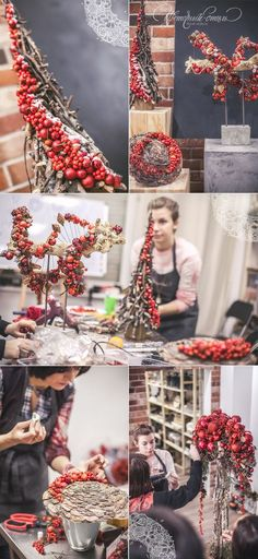 In this DIY tutorial, we will show you how to make Christmas decorations for your home. The video consists of 23 Christmas craft ideas. Christmas Arrangements, Outdoor Christmas Decorations, Christmas Centerpieces, Flower Decorations, Floral Arrangements, Holiday Decor, Winter Christmas, Christmas Home, Christmas Wreaths