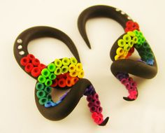 Wrapped Octopus Tentacle Gauges  6G to 0G size by HipsterOctopus, $35.00