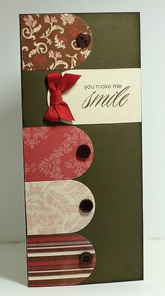 Sweet & Simple Smile Card...great way to use up scraps of paper.