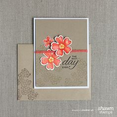 Shawn's watercolored blooms: Birthday Blossoms, Petite Petals, Pansy & Petite Petals Punches, & more - all from Stampin' Up!
