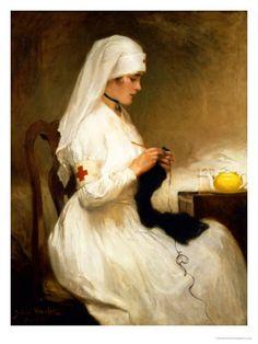 Gabriel Emile Niscolet: Portrait of a Nurse from the Red Cross