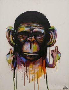 Dran #streetart #monkey