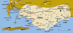 Map of the Overberg - Swellendam Somerset West, Watch This Space, My Town, My Land, Cape Town, West Coast, South Africa, Map, Landscape