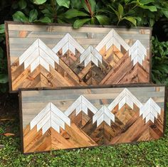 Medium Five Rustic Wood Mountains Wall Art image 7 Rustic Wall Art, Rustic Walls, Wood Wall Art, Rustic Wood, Barn Wood, Woodworking Projects That Sell, Fine Woodworking, Woodworking Furniture, Woodworking Books