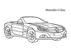 super car mercedes s class coloring page cool car printable free