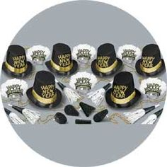 midnite hour assortment new years party kit