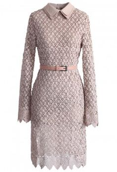 Glam Full Lace Midi Dress in Rouge Pink
