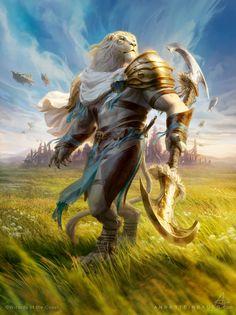 MtG Ajani, Valiant Protector by depingo on DeviantArt