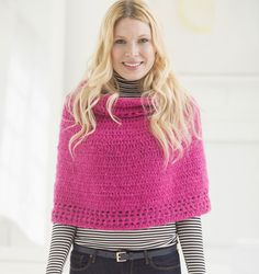 JOANN Crochet Projects: Featuring easy and advanced crochet projects for kids and adults. Browse JOANN craft ideas and projects online. Bobble Crochet, Crochet Bear, Crochet Poncho, Crochet Scarves, Free Crochet, Granny Chic, Crochet Hook Sizes, Crochet Hooks, Crochet Wraps
