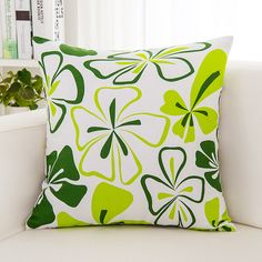 Butterfly green canvas cushoin cover  garden Cherry blossoms printed pillow case Green stripes cushion cover #Affiliate