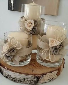 minutes simple christmas candles decoration – Welcome My World Christmas Wedding Centerpieces, Christmas Candle Decorations, Christmas Candles, Diy Centerpieces, Wedding Decorations, Table Decorations, Homemade Decorations, Centrepieces, Pot Mason Diy