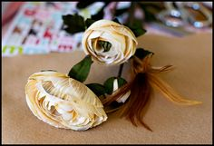 Cute hairs clip idea. From Under the Sycamore