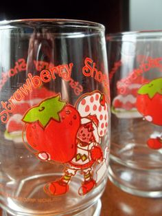 Vintage Set of 2 Strawberry Shortcake Juice by TheHoneysuckleTree, $10.00