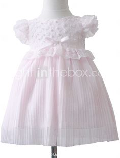 adorável bola vestido de rendas bateau cetim vestido da menina flor - GBP £ 25.62