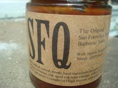 The Ten Best BBQ Sauces:  SFQ barbecue sauce.  Coffee.  Chocolate.  Red Wine.